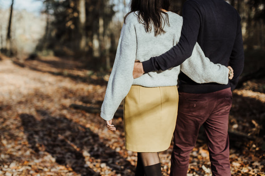 photographe couple reims engagement bois